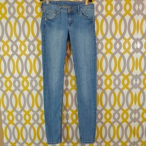 H&M Super Skinny Stretch Blue Jeans Size 29